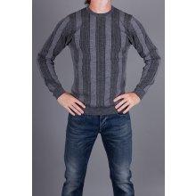 Armani Collezioni Luxusní pánský svetr šedý