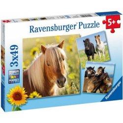 Ravensburger Koně 3x49 dílků