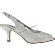 Pásková společenská obuv Effe Tre stříbrné