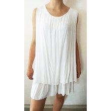 Letní šaty s kanýry i pro plnoštíhlé bílá 30e58f9e08
