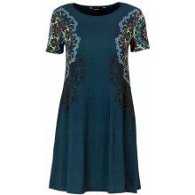 3fb6668b42b Desigual dámské šaty Woman Dress modrá