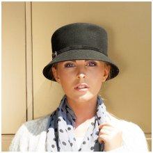 Karpet Vlněný dámský klobouk zdobený páskem fialová 152245 de9b4ac08a