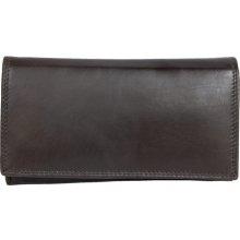 tmavě klasická kvalitní kožená peněženka HMT hnědá