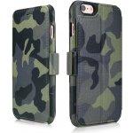 Pouzdro iCarer Camouflage Waller Case iPhone 6/6S zelené