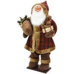Santa nafukovací s bílými vousy se zabudovanou pumpičkou 160cm