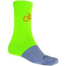 Sensor TOUR Merino wool ponožky zelená/šedá
