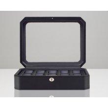 Wolf úložný box na hodinky s víčkem Windsor černá 56169b1cbd