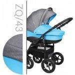 Baby Merc Zipy Q 43 šedá len modrá 2017