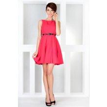 6811cae1a073 Numoco dámské společenské šaty s páskem středně dlouhé růžová
