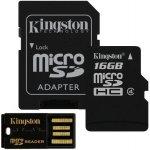 Kingston Mobility Kit G2 microSD 16GB + adaptér + čtečka MBLY4G2/16GB