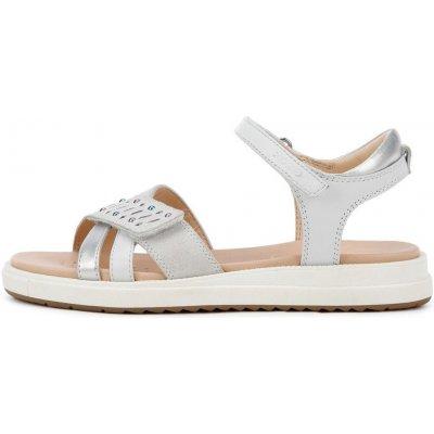 Geox dívčí sandály SANDAL REBECCA GIR J02BLF 0225428 bílá