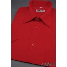 Avantgard pánská košile klasik s kr.ruk. - Červená351-12 6fc1605633