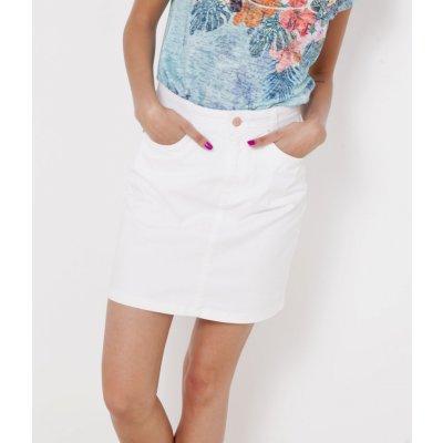 Camaieu džínová sukně bílá