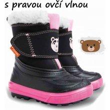 Demar Dívčí sněhule Bear - černo-růžové