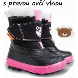 d1e54f125598 Dětská bota Demar Dívčí sněhule Bear - černo-růžové