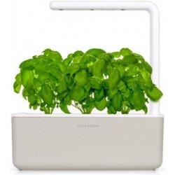Click and Grow Smart Garden 3 chytrý květináč + 3ks kapslí se semínky bazalky béžový