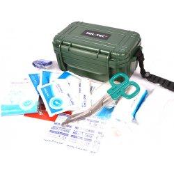 Mil-Tec® Lékárnička CAMPING ve vodotěstném boxu - zelená