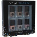 2K Let´s Get Colourful Nudes Nail Polish lak na nehty 6 x 5 ml dárková sada