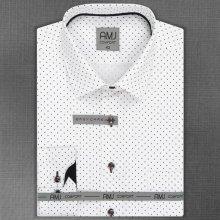 4ad722cac82 AMJ pánská košile dlouhý rukáv šedé kosočtverce VDBPR957