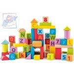 Woody 91842 Kostky pastelové s písmeny a číslicemi