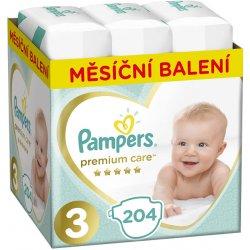 Pampers Premium Care 3 MIDI 5-9 kg 204 ks