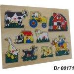 Dromader Dřevěná vkládačka Farma