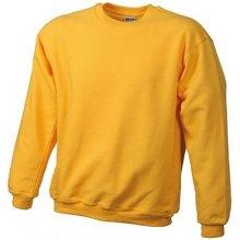 ce95184d07d James   Nicholson Mikina Round-Sweat Heavy Žlutá zlatavá