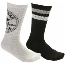 Converse ponožky Fashion Crew 360 Chuck Patch 2 Pack - E556A White Black 4847735a36