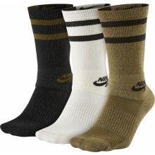 e365cb484f4 Nike ponožky SB 3PPK Crew Socks Multi-Color Anthracite White Khaki