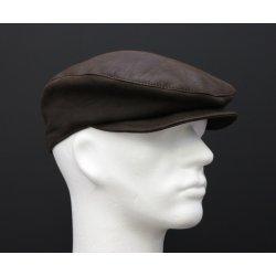Pánská kožená čepice s kšiltem quot bekovka quot  BE 9 antracitově černá a5763f5b76