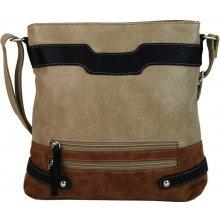 crossbody dámská kabelka H1727 béžovo-hnědá 56838bafd09