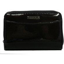 Lorenti Dámská italská lakovaná kožená peněženka černá 01 12 SH Black