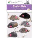 Hračky pro kočky Tommi Myška malá mix 6x5cm 03140