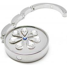 Háček na kabelku Swarovski Elements květinka krystal
