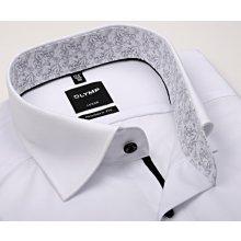 Comfort Fit – Košile s vetkaným proužkem a barevným kárem s vnitřním límcem  a légou 9189b8c452