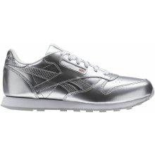 204099b16a3 Reebok Classic Leather Metallic Stříbrná