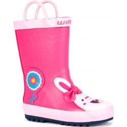 Dětská bota Wink Dívčí holínky s králíčkem - růžové 9a95f10fbc