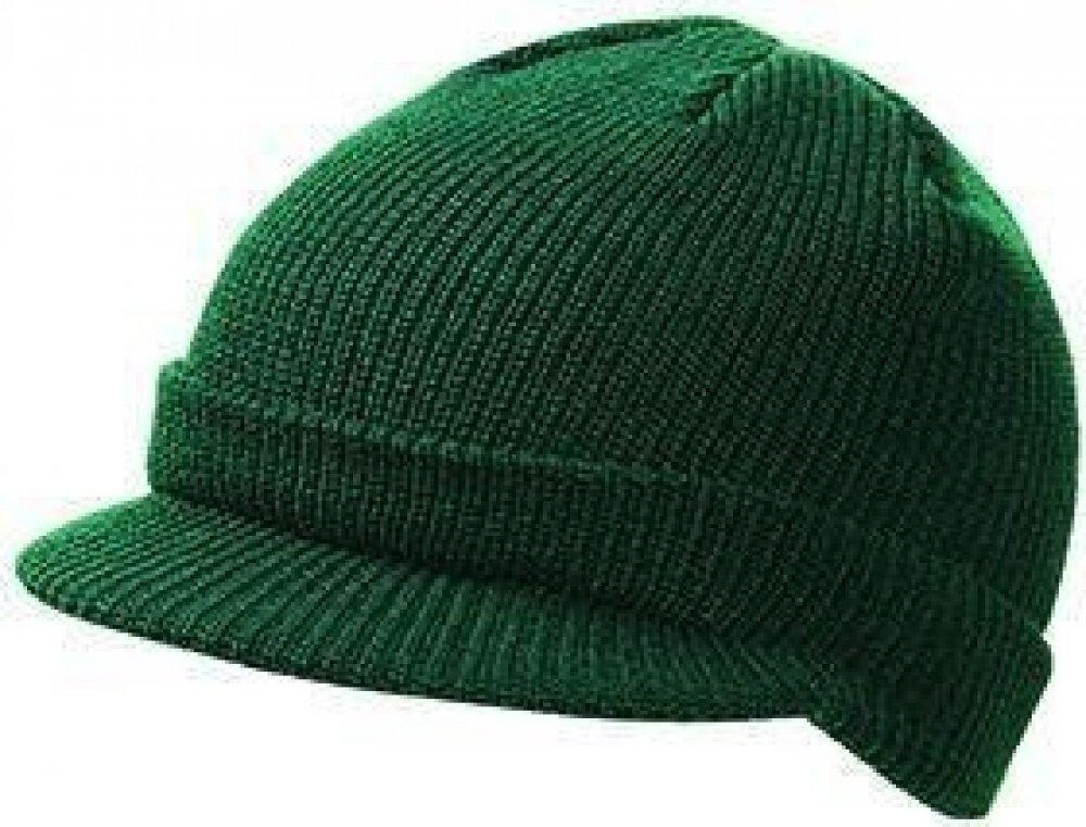 1be2970c798 Pánská zimní čepice s kšiltem MB7530 Tmavě zelená