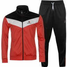 Donnay Poly T Suit Mens Red/Wht/Black