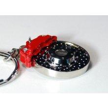 Přívěsek na klíče vrtaný brzdový kotouč s třmenem