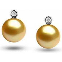 Eppi zlaté jihomořské perly v náušnicích s diamanty Clariss E32272 2ccc6d6a11e