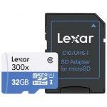Lexar microSDHC 32GB + adaptér Class 10 LSDMI32GBB1EU300A