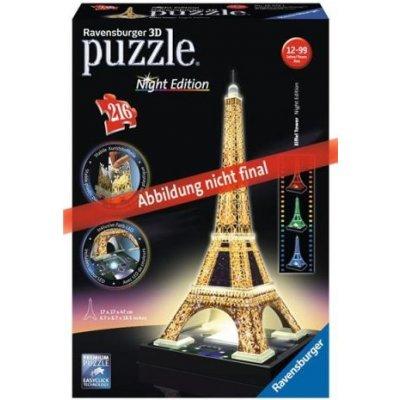Ravensburger 3D puzzle svítící Eiffelova věž Noční edice 216 ks