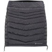 Alpine Pro dámská zateplená mini sukně Trinity LSKH044779 tmavě šedá