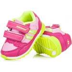 Hasby 2205F Stylové a sportovní dětské tenisky na suchý zip růžové fff5176372