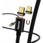 Hama HM 178373 micro USB, Magnetic, A vidlice - micro B vidlice, magnetický, 1M