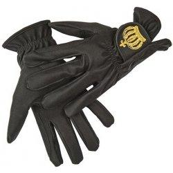 HKM Jezdecké rukavice GOLDEN CROWN by GLÖÖCKLER černá zlatá ... d98b63826d