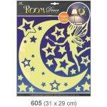 Pokojová dekorace svítící ve tmě víla s hvězdičkami 31x29 cm 605, Anděl Přerov