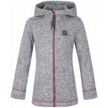 Katuša dětský svetr s kapucí šedá