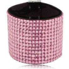 Shine bižuterní třpytivý barevný náramek růžový TN021